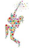 Felsen heraus! Gitarrist - Illustration Stockbild