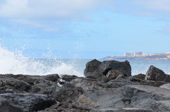 Felsen, Himmel, Wolken, Berge Lizenzfreie Stockfotografie