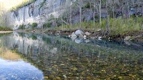 Felsen im Büffel-Fluss in Arkansas stockfoto