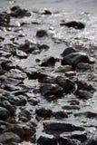 Felsen im Flussbett Stockfotos