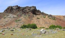 Felsen im grünen Gras Lizenzfreie Stockfotografie