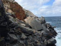 Felsen im italienischen Meer Stockbild