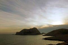 Felsen im nahen Mittelmeermarseille im t Stockfotografie