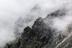 Felsen im Nebel Stockbild