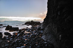 Felsen im Ozean Stockfoto
