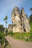 Felsen im tschechischen Paradies Stockbild