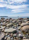 Felsen im Wasser Stockfoto