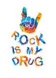 Felsen ist meine Droge lizenzfreie abbildung