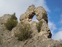 Felsen in Janovas in Huesca Spanien Stockfoto