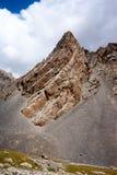 Felsen in Kichik-Alai-Strecke Lizenzfreie Stockfotos