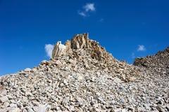 Felsen in Kichik-Alai-Strecke Stockfoto