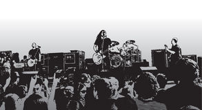 Felsen-Konzert X Stockbild