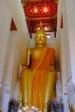 Felsen Luang Por bei Wat Pa Lelai Worawihan (Tempel PAs Lelai Worawihan) - Suphanburi Lizenzfreie Stockfotos