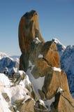 Felsen nahe Mont Blanc Stockfotografie