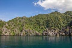 Felsen in Palawan Philippinen Lizenzfreies Stockbild