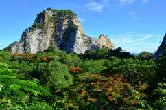 Felsen-Park Ratchaburi Thailand Khao Ngoo Lizenzfreie Stockfotos