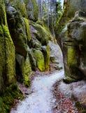 Felsen-Stadt Adrspach, Nationalpark, Tschechische Republik Lizenzfreies Stockfoto