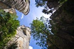 Felsen-Stadt Adrspach Teplice Stockfotografie