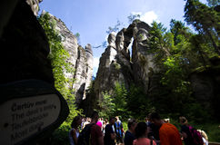 Felsen-Stadt Adrspach Teplice Stockbilder
