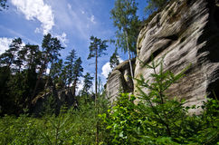 Felsen-Stadt Adrspach Teplice Lizenzfreies Stockbild
