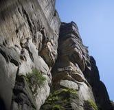 Felsen-Stadt, Nationalpark von Adrspach-Teplice in der Tschechischen Republik, Lizenzfreies Stockbild