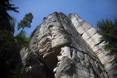 Felsen-Stadt, Nationalpark von Adrspach-Teplice in der Tschechischen Republik, Lizenzfreie Stockbilder