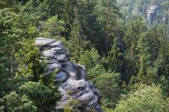 Felsen-Stadt, Nationalpark von Adrspach-Teplice in der Tschechischen Republik Lizenzfreie Stockfotografie