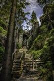 Felsen-Stadt Teplice in der Tschechischen Republik Stockfotografie