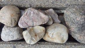 Felsen und Beton Stockfoto