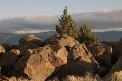 Felsen und Himmel Stockbilder
