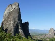 Felsen und Landschaft von Meteora in Griechenland stockfoto