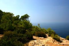 Felsen und Meer Lizenzfreies Stockbild