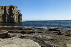 Felsen und Meer Stockbild