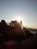 Felsen und Meer in Sardinien Stockfoto