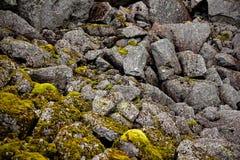 Felsen und Moos Stockfoto