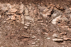 Felsen- und Schmutzhintergrundbeschaffenheit Lizenzfreies Stockfoto