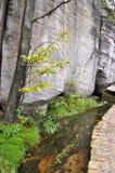 Felsen und Strom Stockbild
