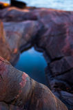 Felsen und Wasser, Seelandschaft Stockfotografie