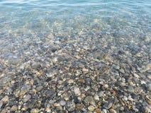 Felsen unter der Seebeschaffenheitsillustration für PC- und Mobiltelefongebrauch stock abbildung