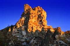 Felsen von Cappadocia in zentralem Anatolien, die Türkei Lizenzfreies Stockbild