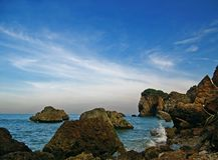 Felsen von einem Meer Lizenzfreie Stockfotos