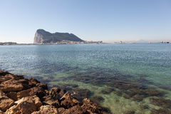 Felsen von Gibraltar Stockfotografie