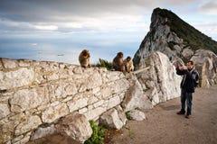 Felsen von Gibraltar Stockfotos