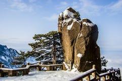 Felsen von Huangshan-Berg Stockfotos