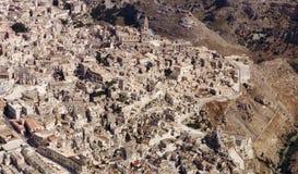 Felsen von Matera Stockfoto