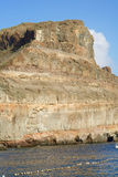 Felsen von mehrfarbigen vulkanischen Kursen Lizenzfreie Stockbilder