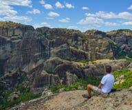 Felsen von Meteora in Griechenland lizenzfreies stockfoto