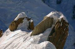 Felsen von Mont Blanc Stockfotos