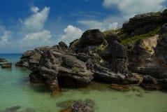 Felsenanordnung in Bermuda Lizenzfreies Stockfoto