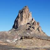 Felsenanordnung in der Wüste stockfoto